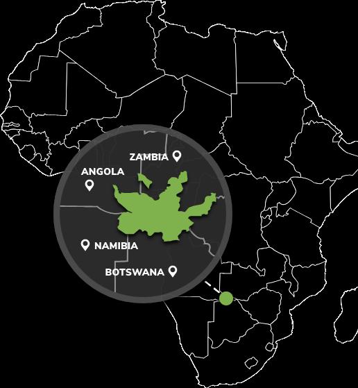 Kavango Zambezi Area Map