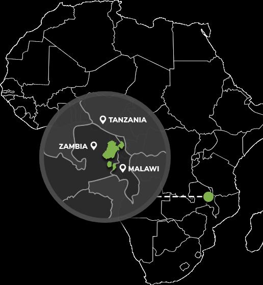 Malawi-Zambia Area Map