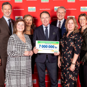 Continued support from the Swedish Postcode Lottery of SEK 7 Million!